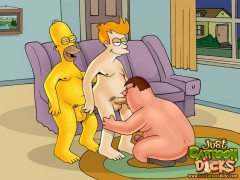 Simpsons and Griffins into gay party Gay Family Guy Gay Simpsons Just Cartoon Dicks